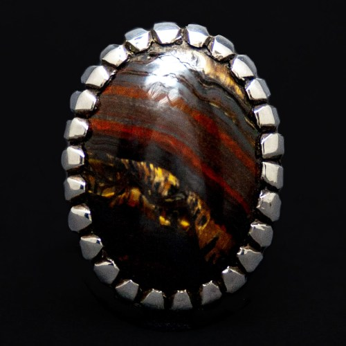 Albert Platero Tiger Iron Navajo Ring