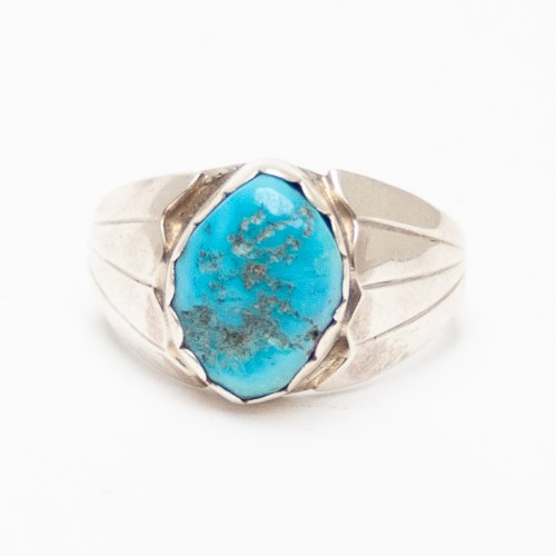 Single Stone Turquoise Ring
