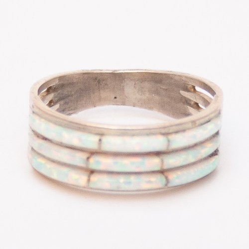 Triple Row Opal Ring