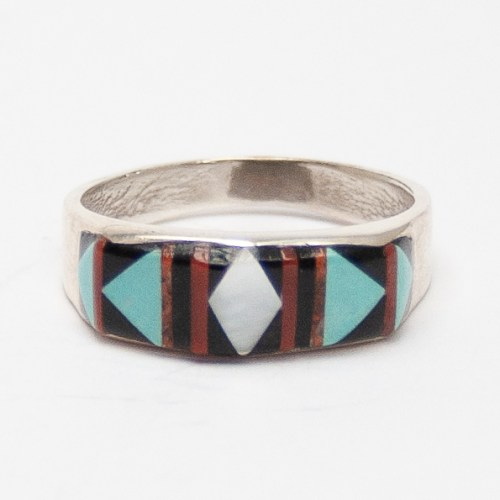 Thick Zuni Inlay Ring