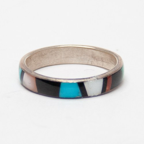 Multicolour Rainbow Inlay Ring