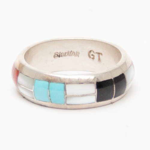 Multicolour Zuni Inlay Ring