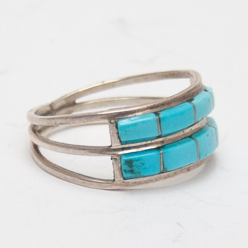 Wallace Turquoise Inlay Ring