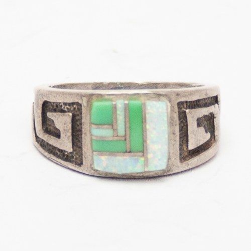 Variscite Opal Inlay Ring