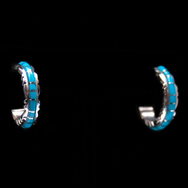 Sheldon Lalio Turquoise Hoop Earrings