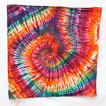 Psychedelic Cotton Face Scarf