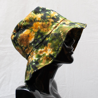 Yellow Green Tie-Dye Hat Large