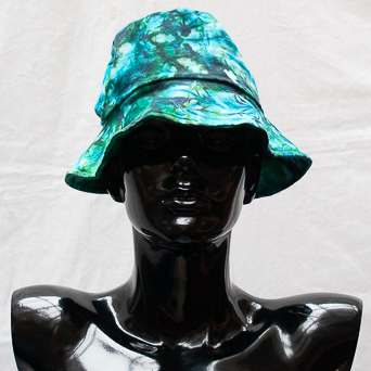 Green Tie-Dye Hat Medium