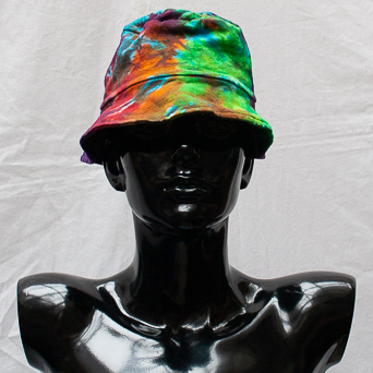 Multicolour Tie-Dye Hat Small