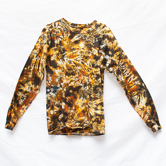 T-Shirt Mixte Tie-Dye Marron M
