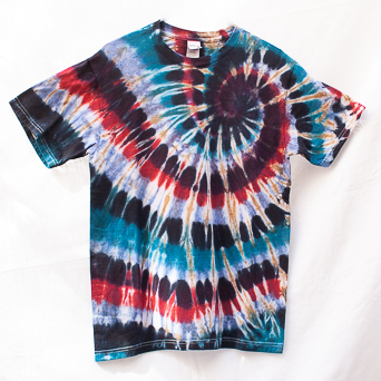 Red Blue Psychedelic T-Shirt M