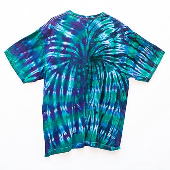 T-Shirt Bleu Vert XL