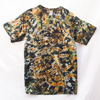 Yellow Green Tie-Dye T-Shirt M