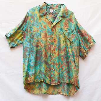Green Meadow Silk Shirt L