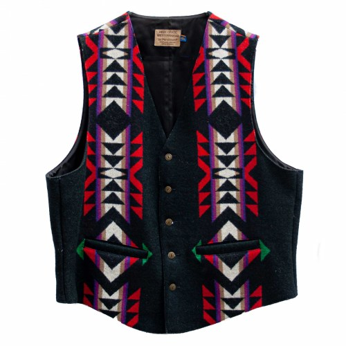 Vintage Black Pendleton Waistcoat