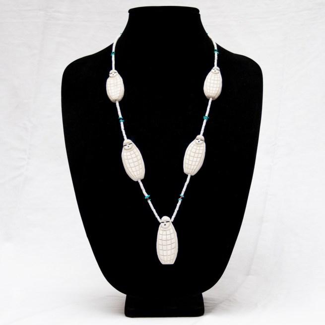 Vintage White Corn Maiden Necklace