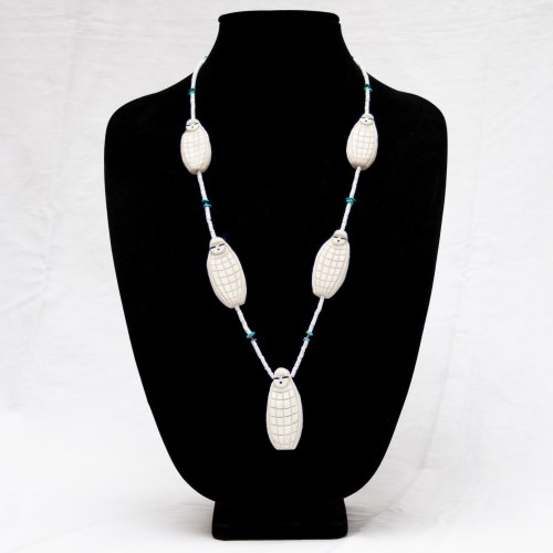Vintage White Corn Maiden Necklace