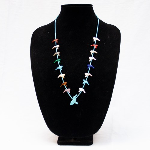 Multicolour Hummingbird Zuni Animal Necklace