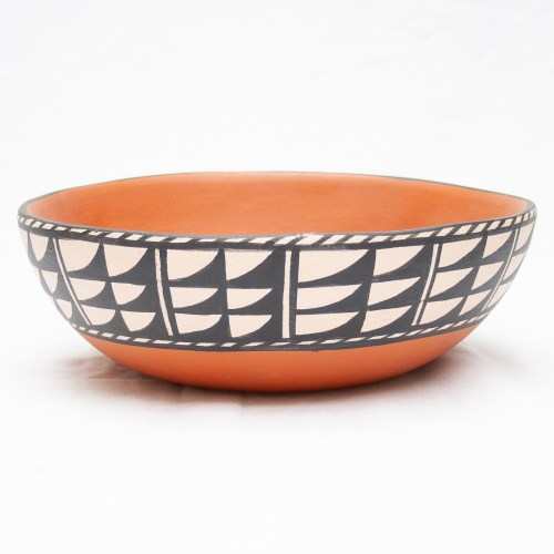 Lovato Santo Domingo Pueblo Terracotta Pottery Bowl