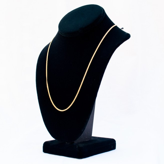 """18K Gold Thick Gourmette Link Chain 20"""""""