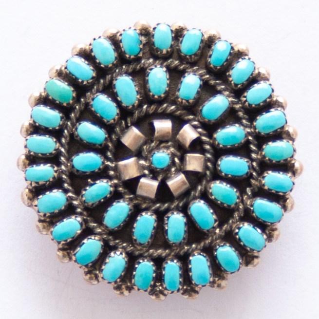 Lorraine Waatsa Turquoise Pin Brooch Pendant