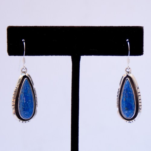 Anna Begay Lapis Lazuli Drop Earrings