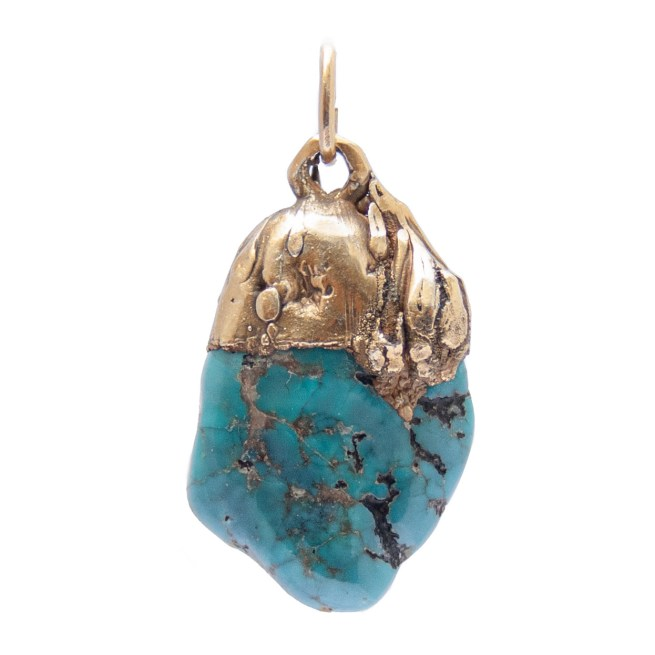 Gold Plated Turquoise Pendant