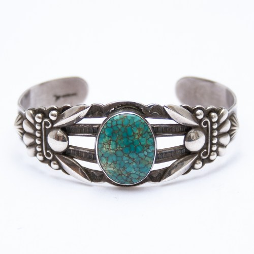 Fred Harvey Spiderweb Turquoise Bracelet