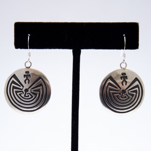 Stanley Gene Man In The Maze / I'Itoi Silver Earrings