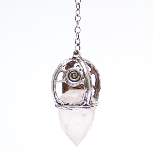 Sterling Silver Rose Quartz Pendulum