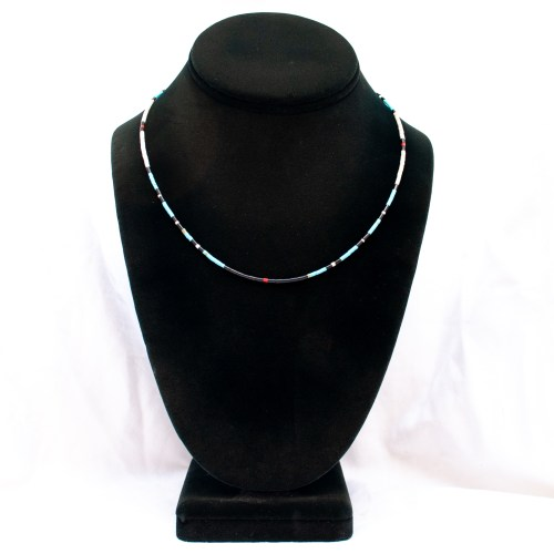 Thin Black Santo Domingo Necklace