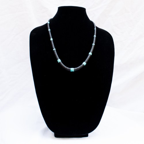 Delbert Crespin Long Black Blue Necklace