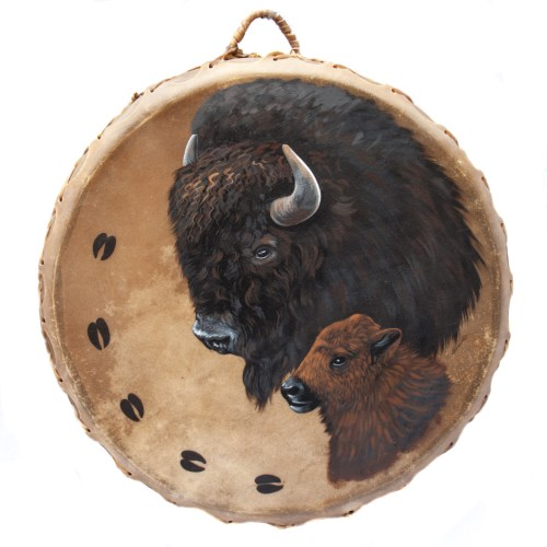 Native American Buffalo Ceremonial Drum