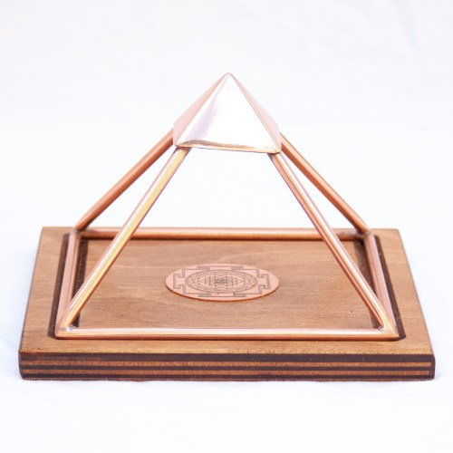 Small Sri Yantra Meru Copper Pyramid