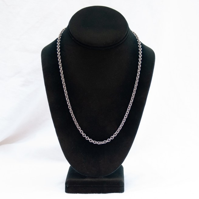 """Sterling Silver Ribbed Anchor Cable Chain 20"""""""