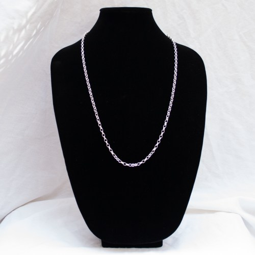 Sterling Silver Long Cable Chain 30""
