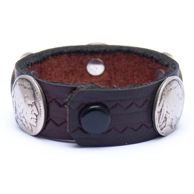 Bracelet Amérindien Cuir Foncé