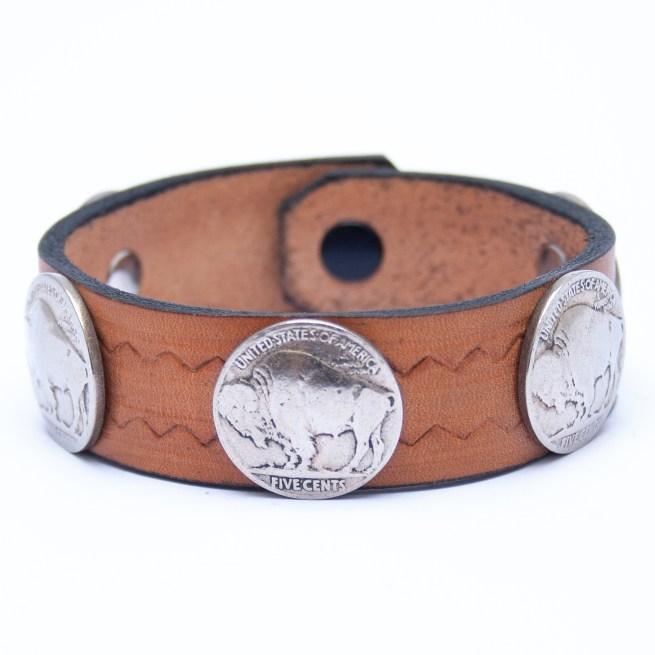 Bracelet Amérindien Traditionnel Cuir