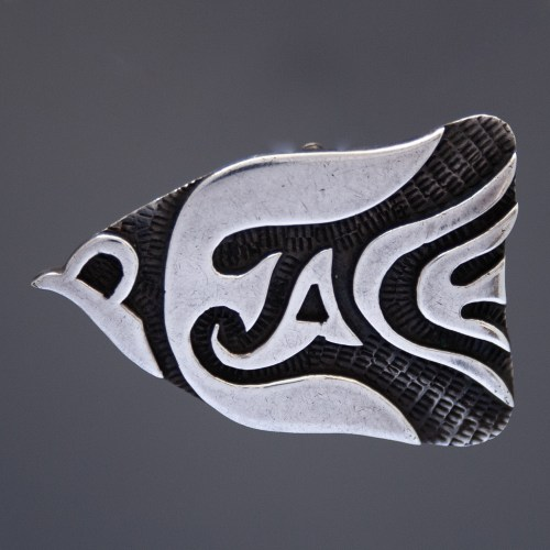 Sterling Silver Hopi Peace Dove Brooch Pendant