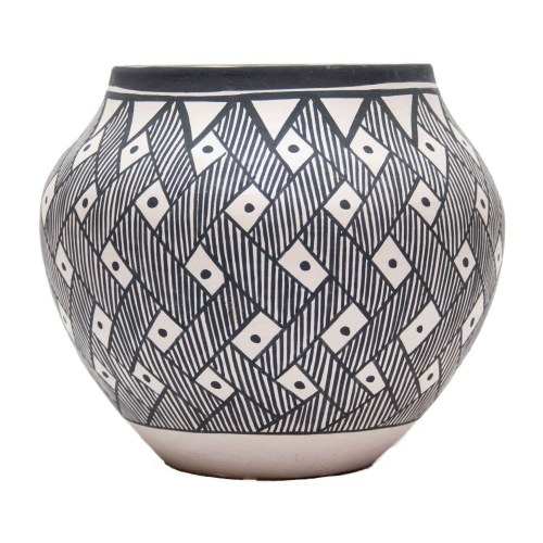 Black White Acoma Pottery