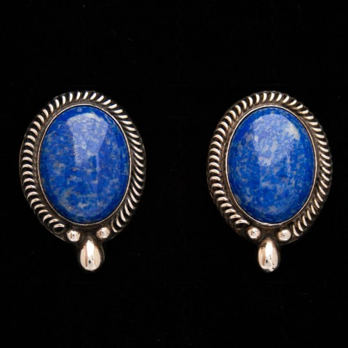 Native American Navajo Lapis Lazuli Stud Earrings
