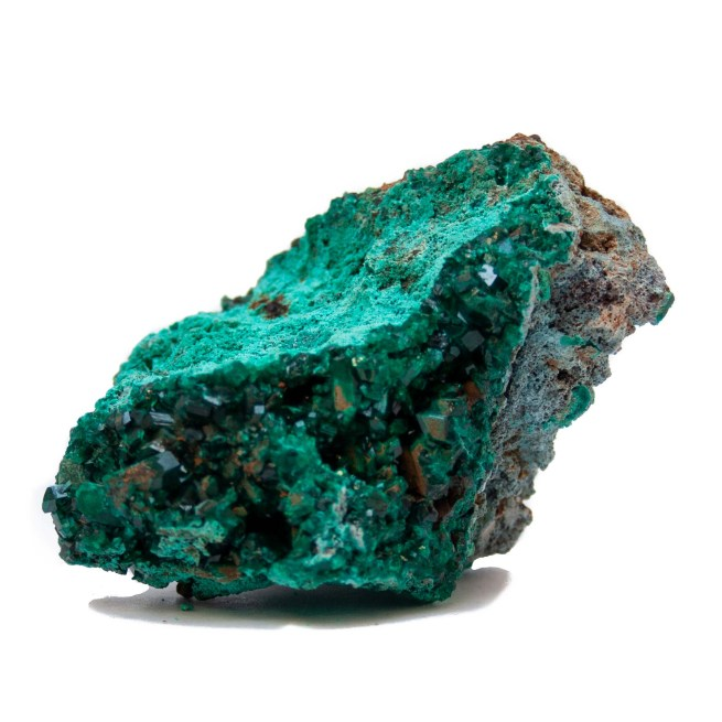 Raw Dioptase Cluster