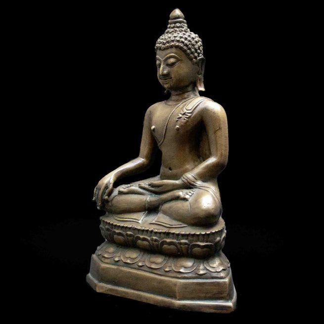 Statue Bouddha Bhumisparsa Mudra