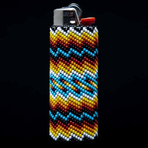 Large Yellow Blue Lighter Case
