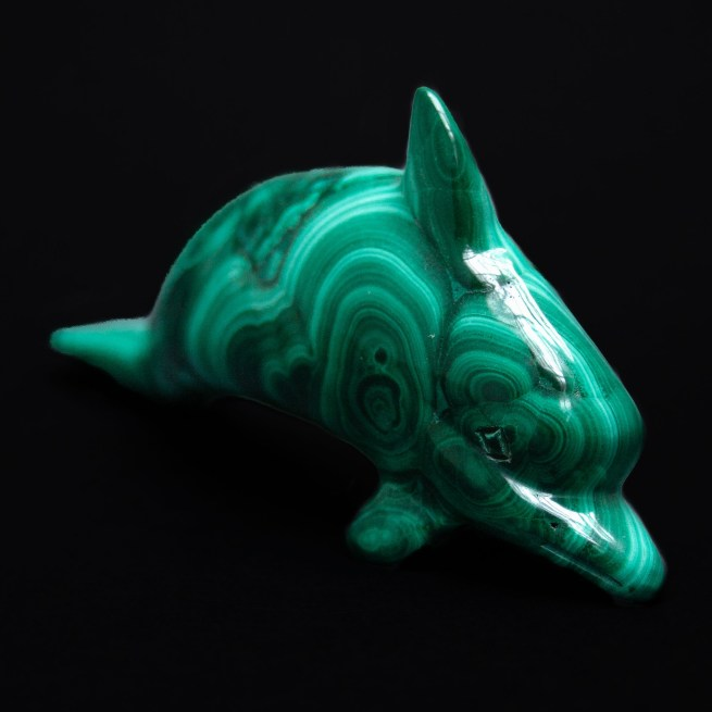 Malachite Dolphin Carving