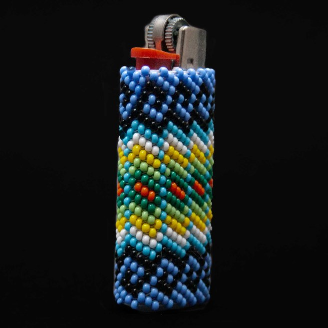 Small Colourful Beaded Lighter Case