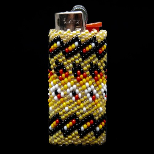 Small Yellow Zuni Beaded Lighter