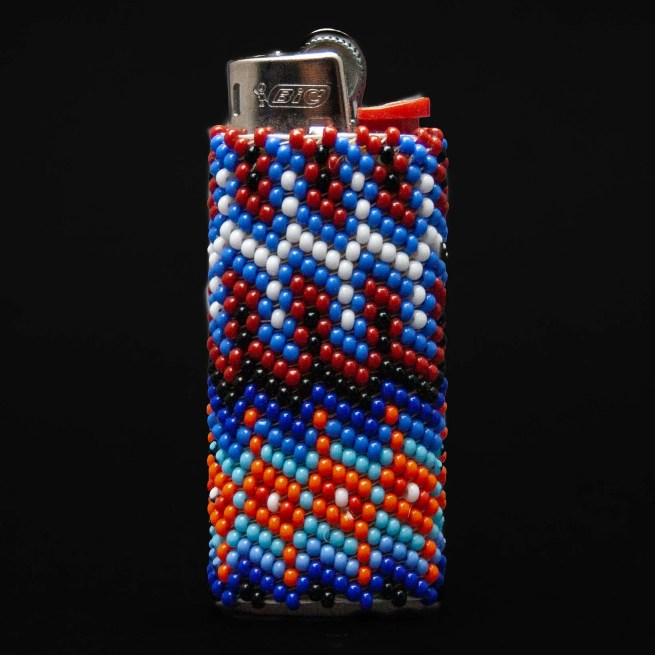Small Zuni Beaded Lighter Case