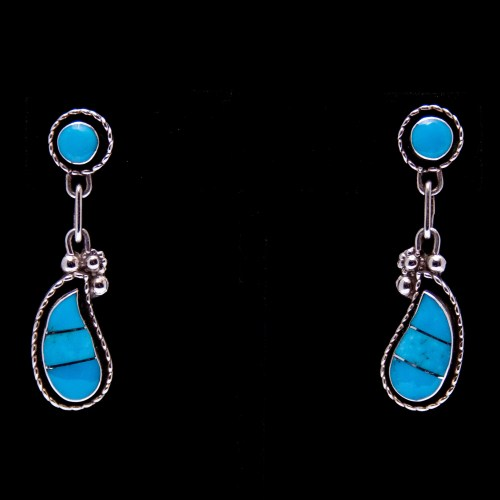 Two-Tier Teardrop Turquoise Earrings