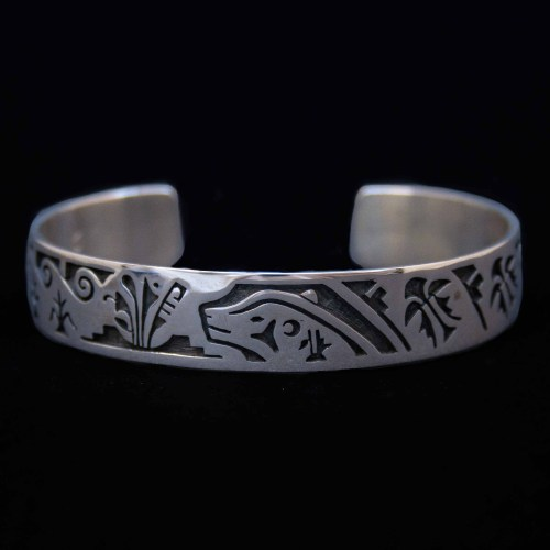 Kyasyousie Hopi Silver Bangle